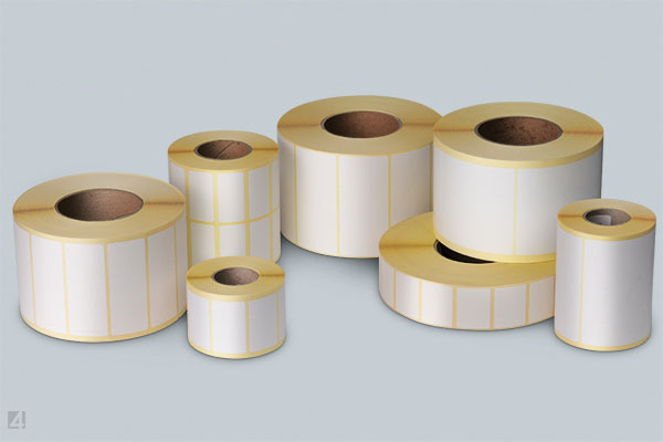 standard adhesive labels on rolls