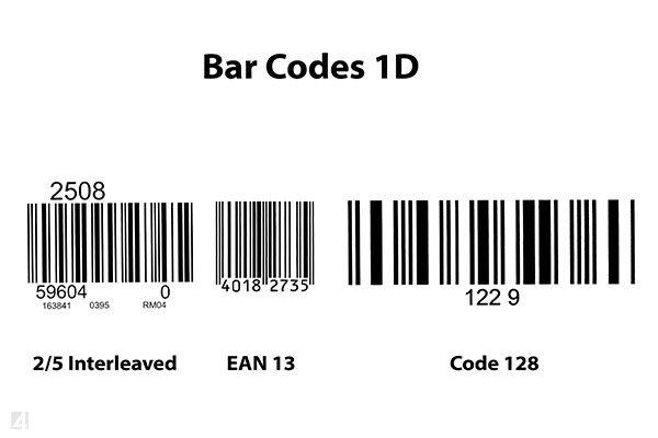 Barcode interleaved