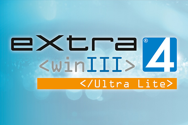 Screen mit Logo extra4 Software Edition Ultra Lite