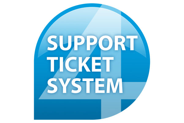support ticket-system blau weiss