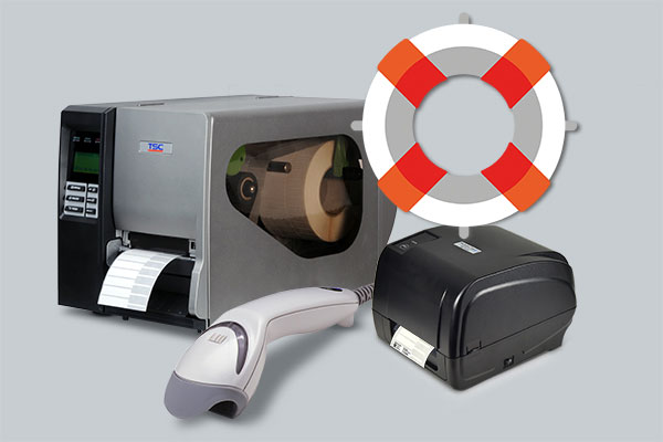 hardware support for label printers and barcode scanners