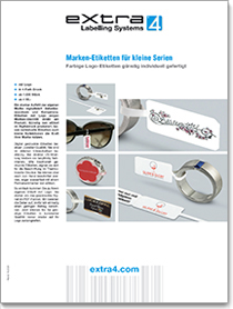 Brochure about Jewellery Labels with Logo digitally printed at attractive price
