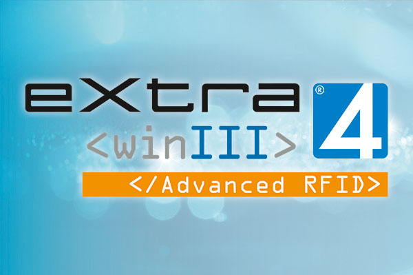 Screen mit Logo extra4 Software Edition Advanced RFID